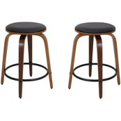 LumiSource Porto Counter Stools 2 pk.