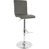 LumiSource Spago Contemporary Adjustable Barstool with Swivel