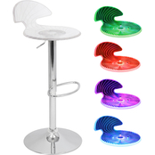 LumiSource Spyra Light Up Adjustable Barstool