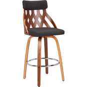 LumiSource York Mid Century Modern 26 in. Counter Stool