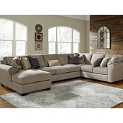 Benchcraft by Ashley Pantomine 4 pc. LAF Corner Chaise Sectional with Armless Sofa