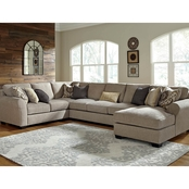 Benchcraft by Ashley Pantomine 4 pc. RAF Corner Chaise Sectional with Armless Sofa