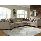 Benchcraft by Ashley Pantomine 4 pc. LAF Cuddler Sectional with Armless Sofa