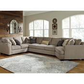 Benchcraft by Ashley Pantomine 4 pc. RAF Cuddler Sectional with Armless Sofa