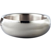 Leeber Limited Elegance Hammered Stainless Steel Bowl, Double Wall, 11 in.