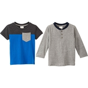 Gumballs Infant Boys 2 pc. Henley and Pocket Tee Set
