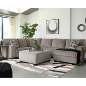 Ashley Ballinasloe 3 pc. Sectional with RAF Chaise/LAF Sofa/Armless Loveseat