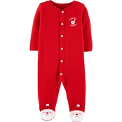 Carter's Infant Boys Santa's Helper Snap Up Thermal Sleep and Play