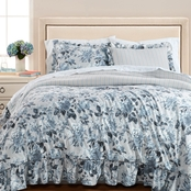 Martha Stewart Collection Floral Rouching 8Pc. Comforter Set