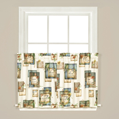 Saturday Knight LTD Garden Love 57 x 36 in. Tier Window Curtains