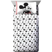 Disney Mickey Jersey 3 pc. Twin Sheet Set