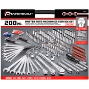 Powerbuilt Master Auto Mechanics Service 200 Pc. Tool Kit