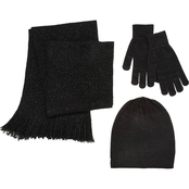 New York Accessory Hat, Gloves and Scarf Set with Gift Box