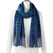 New York Accessory Plaid Fringed Wrap