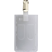 Brigade QM 2 Card Polycarbonate ID Holder with Clip