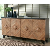 Signature Design by Ashley Robin Ridge 4 Door Accent Cabinet