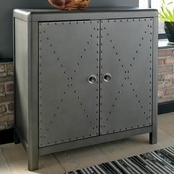 Signature Design by Ashley Rock Ridge 2 Door Accent Cabinet