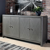 Signature Design by Ashley Rock Ridge 4 Door Accent Cabinet