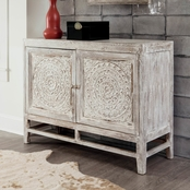 Signature Design by Ashley Fossil Ridge 2 Door Accent Cabinet