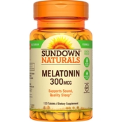Sundown Naturals Melatonin 300 mcg Tablets 120 Pk.