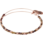 Alex and Ani Dark Orchid Wisdom Beaded Bangle Bracelet