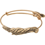 Alex and Ani Spiritual Armor Feather Motif Bangle Bracelet
