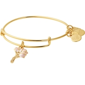 Alex and Ani Pink Tulips Charm Bangle  Breast Cancer Research Foundation Bracelet