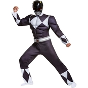 Disguise Ltd. Adult Power Rangers Black Ranger Classic Muscle Costume, X-Large