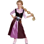 Disguise Ltd. Girls Tangled Rapunzel Classic Travel Outfit Costume, Medium