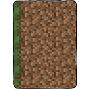 Minecraft Grass Silk Touch Twin Blanket