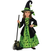 Rubie's Costume Girls Green Witch Costume