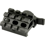 UTG Double Rail/3 Slot Angle Mount with QD Lever Mount