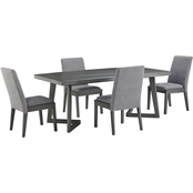 Signature Design by Ashley Besteneer Rectangular Table with 4 Chairs