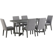 Signature Design by Ashley Besteneer Rectangular Table with 6 Chairs
