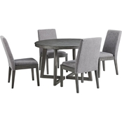 Signature Design by Ashley Besteneer Round Table with 4 Chairs