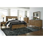 Signature Design by Ashley Broshtan Panel Bed 5 pc. Set