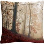 Trademark Fine Art Leif Londal Waiting For The Deer Decorative Throw Pillow