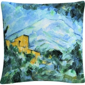 Trademark Paul Cezanne Mont Saintevictoire And Chateau Noir Decorative Throw Pillow