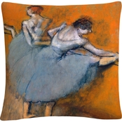 Trademark Fine Art Edgar Degas Dancers At The Bar Decorative Throw Pillow
