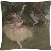 Trademark Fine Art Edgar Degas The Star Decorative Throw Pillow