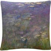 Trademark Fine Art Claude Monet Water Lilies 2 Decorative Throw Pillow