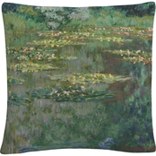 Trademark Fine Art Claude Monet Le Bassin Des Nympheas Decorative Throw Pillow