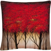 Trademark Fine Art Rio Serenade In Red Decorative Throw Pillow