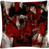 Trademark Fine Art Masters Fine Art Abstract IV Decorative Throw Pillow