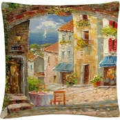 Trademark Fine Art Rio Capri Isle Decorative Throw Pillow