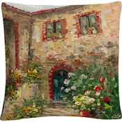 Trademark Fine Art Rio Tuscany Courtyard Decorative Throw Pillow