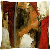 Trademark Fine Art Masters Fine Art Abstract IX Decorative Throw Pillow