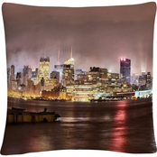 Trademark Fine Art David Ayash Midtown Manhattan Decorative Throw Pillow