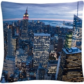 Trademark Fine Art Yakov Agani New York City, NY Decorative Throw Pillow