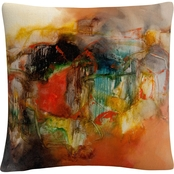 Trademark Fine Art Zavaleta Abstract VI Decorative Throw Pillow